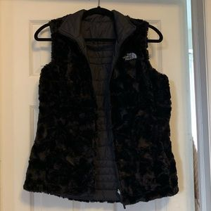 Reversible Black The North Face Vest
